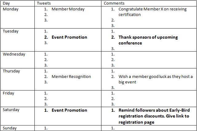 Event Calendar For Organization : Building a content calendar for your non profit or