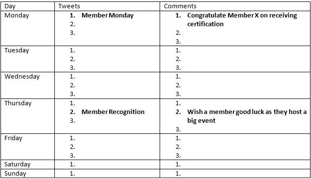 Recognition Calendar